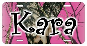 Camouflage Pink Personalized Monogrammed License Plate Custom Auto Car Tag Camo