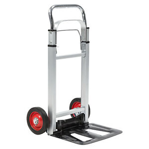 220lbs Cart Folding Dolly Collapsible Trolley Push Hand Truck Moving W 2 Wheels