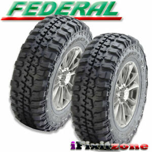 2 New Federal Couragia M t Lt265 75r16 123 120q All Season Mud Terrain Tires