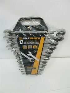 Gearwrench 9312 1 4 1 Combination Ratcheting Wrench Set 13 Piece Set