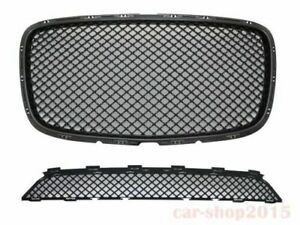 Chrysler 300 300c Front Grille Black Bentley Style Upper lower 2015 2017