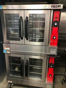 Used Vulcan Vc44gd Gas Double Stack Full Size Convection Oven 10 Racks