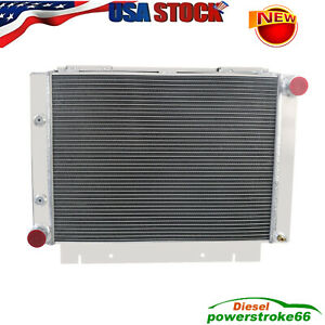 4 Row Aluminum Radiator For 1960 1963 Ford Galaxie 500xl L6 v8
