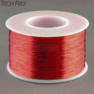 Magnet Wire 32 Gauge Awg Enameled Copper 2450 Feet Coil Winding 155c Red