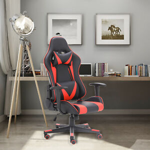 Gaming Chair With Black Adjustable Tilt Racing Chair High back Leather Executive