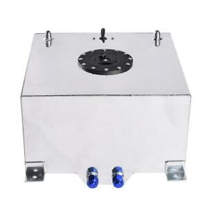 10 Gallon Polished Aluminum Racing Drift Fuel Cell Tank Level Sender