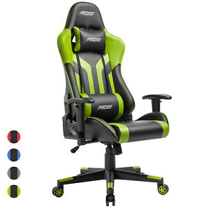 Office Gaming Chair High back Computer Desk Chair Recliner Swivel Racing Green