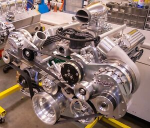 Turn Key Twin Supercharged 427 Ford Stroker Crate Engine 1000 Hp Holley Mpefi