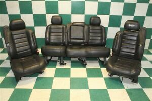 05 07 H2 Black Leather Heated Power Front Buckets Backseat Bench Seat Set Oem