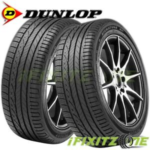 2 New Dunlop Signature Hp 245 45r17 95w 45k Mile All Season Performance Tires