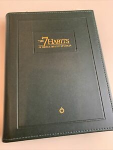 Franklin Covey Quest Green Leather Planner 9 x11 And The 7 Habits Insert Pages