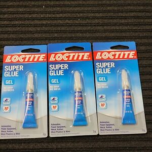Lot Of 3 Quality Loctite Fast Acting Gel Super Glue 0 07 Oz Fast Free Shipping