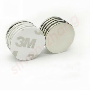 10 Pcs 1 Inch Neodymium Magnets Large Strong Rare Earth With Adhesive Backing