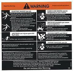 Lincoln Welders Warning Label Official Decal Part M 16197 Uv Laminated
