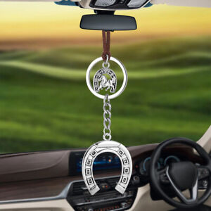 Car Pendant Hanging Horse Horseshoe Rearview Mirror Lucky Decoration Ornaments