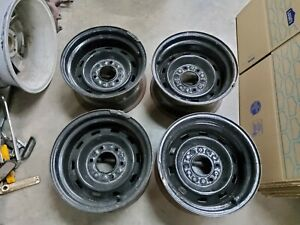 1973 1987 Chevy Gmc Truck 1973 1991 K5 Blazer 6 Lug 15x8 Rally Rim Wheels Oe Set