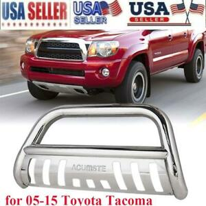 For 2005 2015 Toyota Tacoma Pickup Truck Bull Bar Grill Guard Front Push Bumper