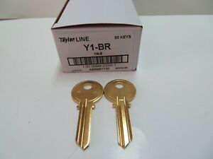 Lot Of 50 Y1 Yale Key Blanks Brass Made In Usa By Ilco