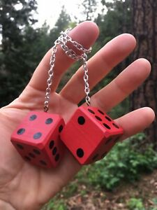 Red Black Mirror Dice New Product Car Or Truck Hand Made In Usa Casino