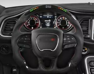 Led Performance Carbon Fiber Steering Wheel For Dodge Charger Challenger Durango