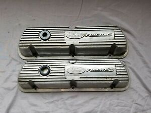 Ford Racing Performance Sbf 289 302 351w Polished Finned Aluminum Valve Covers