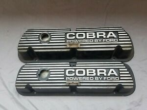 Ford Racing Mustang Cobra 289 302 351w Black Satin Valve Covers Sbf