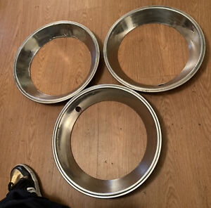 Lot Of 3 15 Vintage Chrome Gm Oldsmobile Chevy Pontiac Beauty Trim Rings