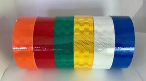 High Intensity Microprismatic Reflective Safety Tape Six Colors