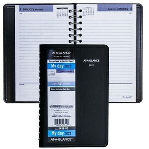 2022 At a glance Dayminder Sk46 00 Daily Planner 4 7 8 X 8