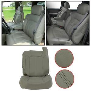 Front Driver Side Bottom Amp Top Seat Covers For 99 02 Chevy Tahoe Gray Leather Fits Tahoe