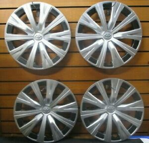 Used Set 16 10 spoke Silver Hubcaps Wheelcover Fits 2018 2019 Toyota Camry