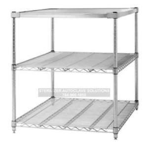 Tuttnauer 3870 Autoclave Stand 3 Shelves Oem Stand 3