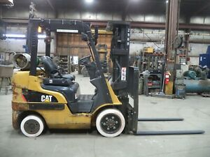 2016 Caterpillar 2c5000 5 000 5000 Cushion Tired Forklift W 3 Stage Ss fp