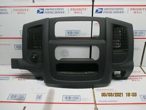 02 05 Dodge Ram 1500 Center Dash Trim Bezel Radio Surround Panel Slate E1