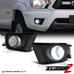 For 12 14 Toyota Tacoma 2wd 4wd pre x runner Truck White Led Fog Light Lamp Kit