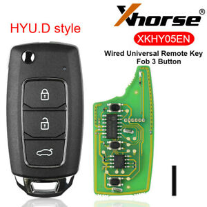 Xhorse Hyu D Style Key Fob 3 Button Wired Universal Remote For Vvdi Key Tool Max