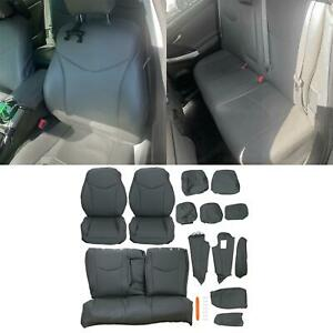 Gray Full Set Front Rear Seat Covers For 2010 2015 Toyota Prius 11 12 13 14