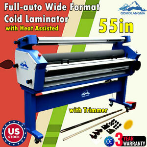 Us 55in Full auto Wide Format Cold Laminator With Heat Assisted Trimmer 110v