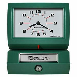 Acroprint Model 150ar3 Heavy Duty Automatic Time Recorder Prints Day Of The W