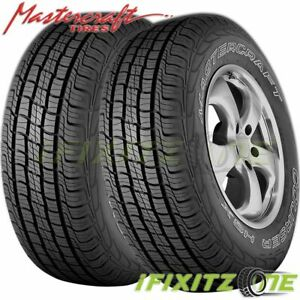 2 X Mastercraft Courser Hsx Tour 235 70r16 Owl 106t All Season Performance Tires