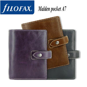 Filofax A5 personal pocket Malden Diary Planner Leather Notebook Organiser Gifts