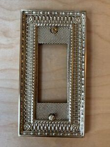 Vintage Brass Switch Outlet Plate Cover Set Of 3