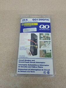 New Square D Qo120gfic Qo120gfi 20amp Gfci Ground fault New In Package