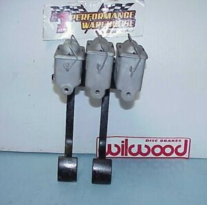 Wilwood Hanging Dual Reverse Mount Clutch Brake Pedals Master Cylinders M2