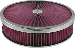 Corvette Air Cleaner Assembly Super Flow 14 With Chrome Edge Lid 25 171974 1