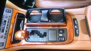 03 Lexus Sc430 Floor Shifter Assembly W wood Trim Cup Holder Ash Tray Oem