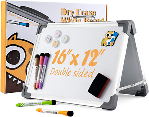 Magnetic Dry Erase Board 16 X 12 Portable White Board For Kids Double Sided