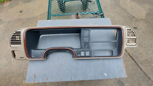 95 99 Gm Escalade Tahoe Yukon Woodgrain Dash Trim Panel Bezel Surround 4x4 Oem