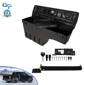 Left Truck Wheel Well Storage Tool Box W lock For 02 18 Dodge Ram 1500 2500 3500