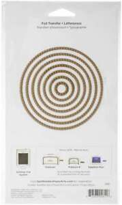 Spellbinders Glimmer Hot Foil Plates Essential Circles 813233046116